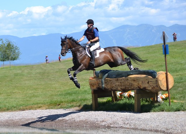 James Alliston and Mojo flew into 2nd in the CIC3* after cross-country. Photo by Miles Barrett.