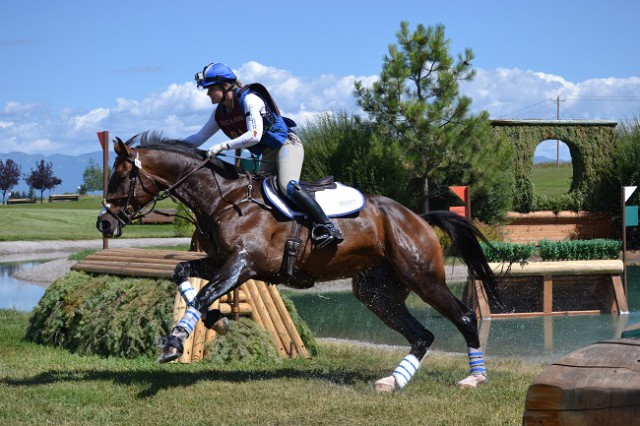 Jordan Linstedt of Washington and Revitavet Capato are 4th after cross-country in the CIC3*. Photo by Miles Barrett.