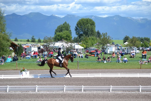 Lauren Billys and Ballingowan Ginger are fourth after dressage. Photo by Chesna Klimek.