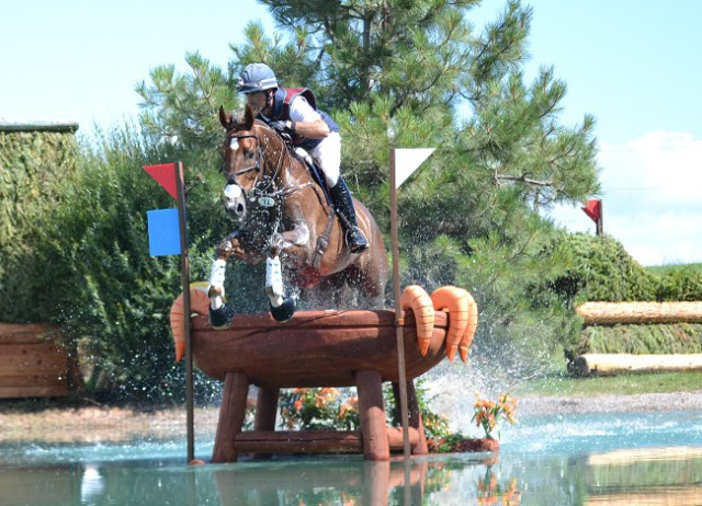Matthew Brown and Super Socks BCF are first in the CIC3* after cross-country. Photo by Miles Barrett.