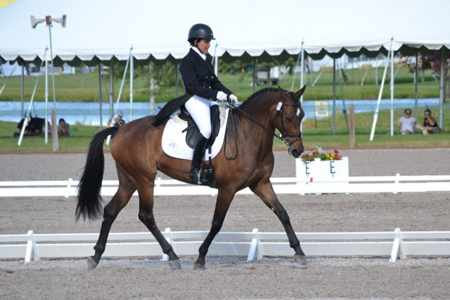 Barbara Crabo and Over Easy, 5th after dressage. Photo by Chesna Klimek.