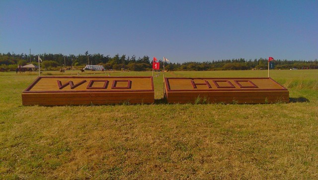 The signature first XC fences at WIHT. Photo by Chris Cole.