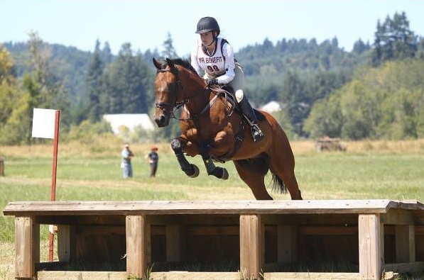 Lauren Boriotti and Chad's return to eventing at the Young Rider Benefit Horse Trials after his recovery from serious injury. Photo by Action Taken Photography / Tim O'Neal.