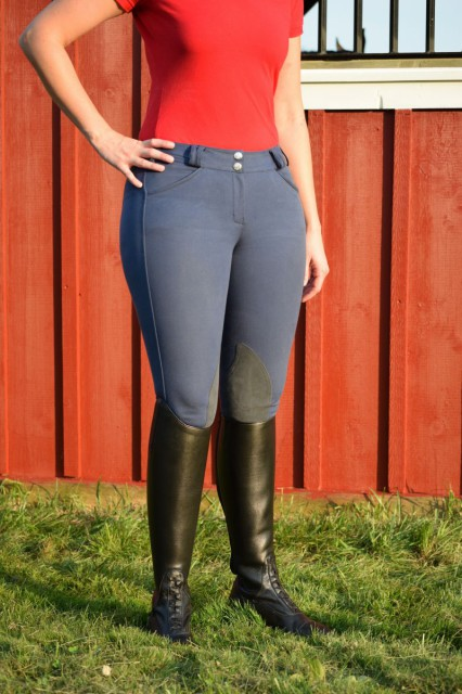 The Nero breeches are crafted of Tredstep's own ExCell fabric, that brings together both cotton and Lycra - Photo by Lorraine Peachey