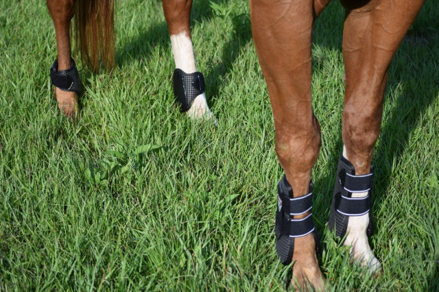 I am personally a huge fan of the patent TPU strike guards on both pairs of boots - the black, glossy appearance just gives them an extra dash of style! - Photo by Lorraine Peachey
