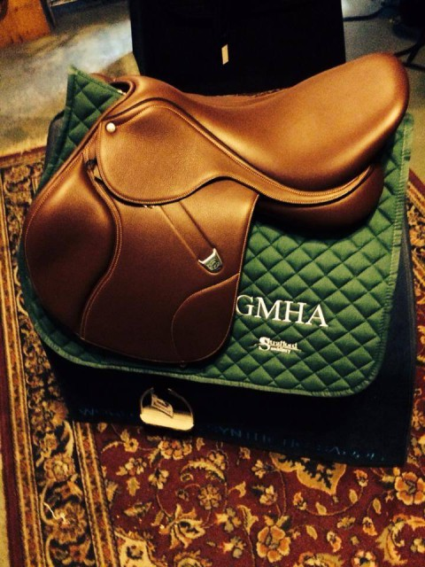 A Bates saddle up for grabs as a prize for GMHA's inaugural CIC*. Photo via the GHMA Facebook page.