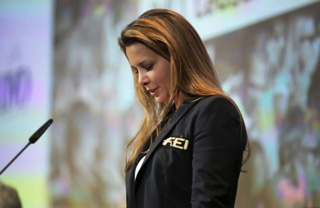 FEI President HRH Princess Haya opening the 2014 Sports Forum. FEI Photos/Germain Arias-Schreiber.