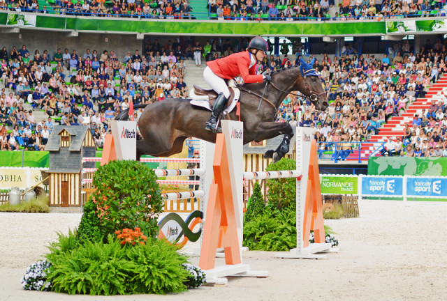 Kim Severson and Fernhill Fearless at the 2014 World Equestrian Games. Photo by Jenni Autry.