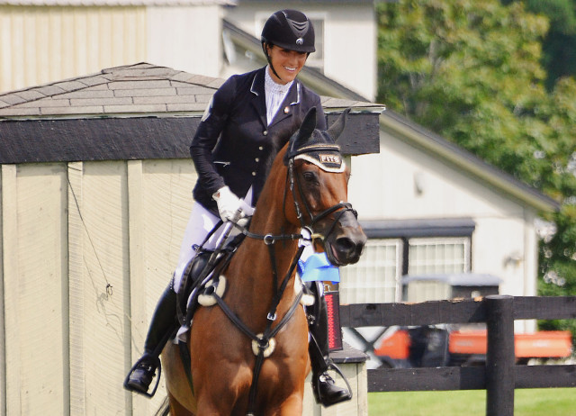 Laine Ashker and Anthony Patch triumphant at Millbrook 2014. Photo by Jenni Autry.