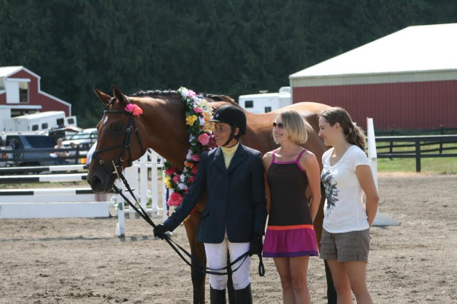 Worth The Wait during his retirement ceremony alongside Aimee Witherspoon and her two daughters. Photo by Maggie Rikard.