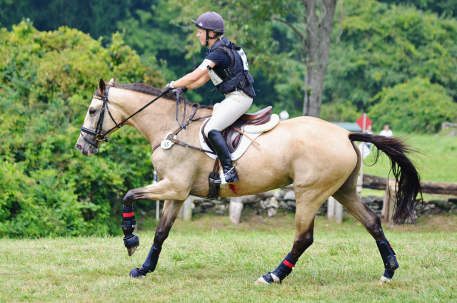 Callie Evans and Glendening Avis on course at Millbrook. Photo by Jenni Autry.