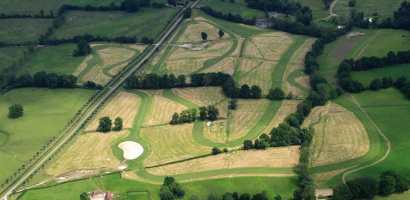 An aerial view of the cross-country course at Le Pin National Stud. Photo courtesy of the FEI.
