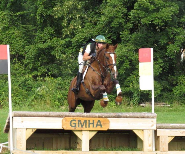 Best horse ever! Theatre Royal, owned by Gayle Davis, at GMHA Festival Of Eventing. Training Rider. Photo taken by Denny Emerson