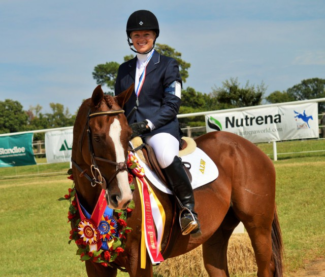 Alex Wikstrom and Change Order, who took second place in the Senior Preliminary. Photo by Sally Spickard.