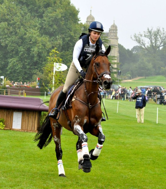 Hannah Sue Burnett and Harbour Pilot at Burghley. Photo by Kate Samuels.