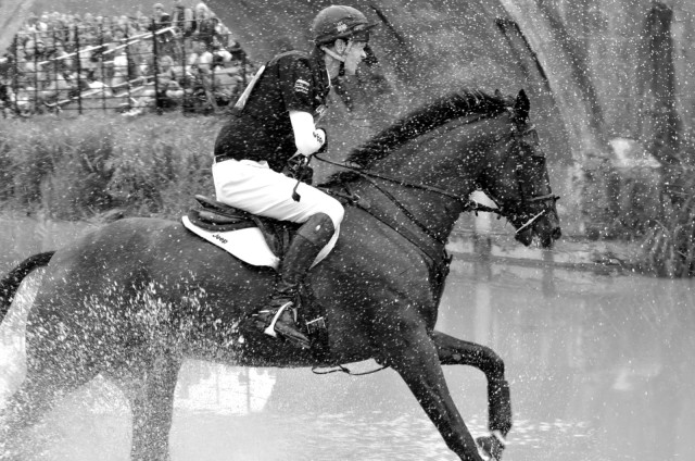 William Fox-Pitt & Moonie through the last combination at Burghley. Photo by Kate Samuels.