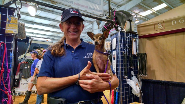 Chipotle the Chihuahua loves the AEC Trade Fair! Photo by Lindsey Kahn