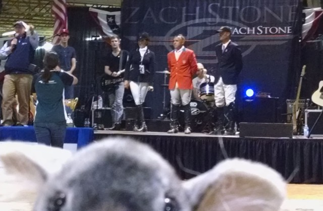 Chinchbombing the Gold Cup winners at the AECs. Photo by Lindsey Kahn
