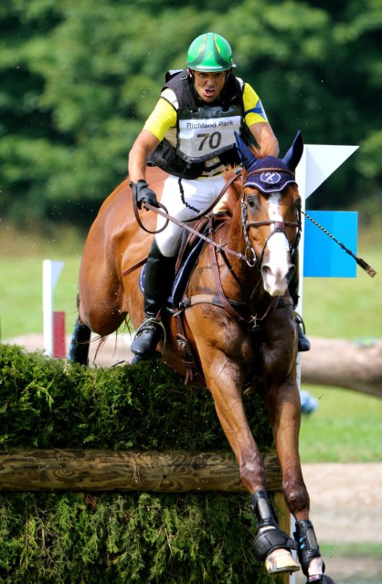 Nilson Moreira da Silva and Muggle at the 2014 Richland CIC3*.  Photo by Jenni Autry.