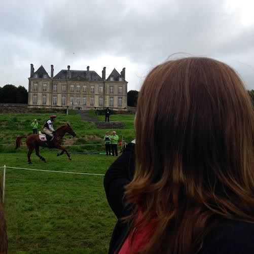Watching the action at Haras du Pin.