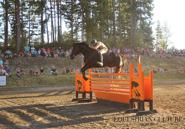 Patrick Billes and the eventing stallion Rabenschwarz cleared 4'9