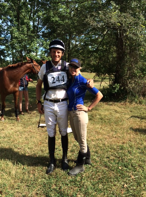 Boyd Martin congratulates Ashley Russell on the win at Seneca Valley. Photo courtesy of Terri Ehrenfeld.