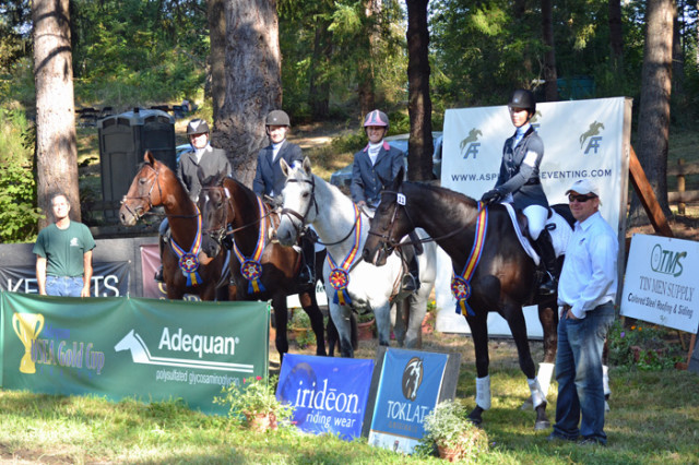 Mary Burke and Prince William (right) won Open Intermediate and were on the winning Team USA of the Intermediate CanAm Team Challenge. Photo by Chesna Klimek.