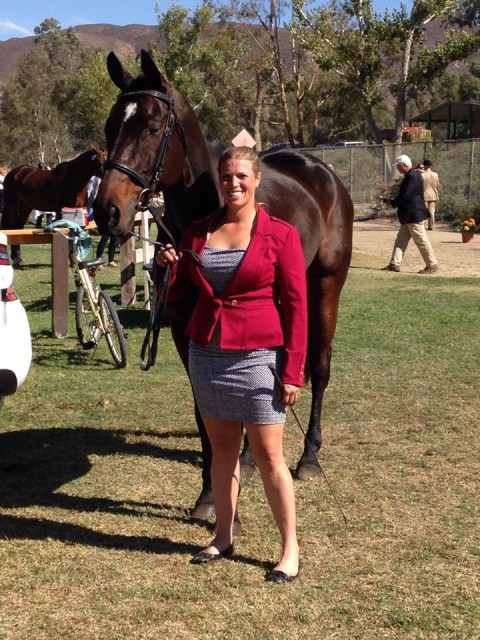 Ellen Doughty-Hume & Sir Oberon. Photo courtesy of Ellen's FB.