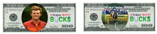 Yes, that really is Boyd Martin on the front of 'Boyd Bucks' - Photo from Boyd & Silva Martin's Blog