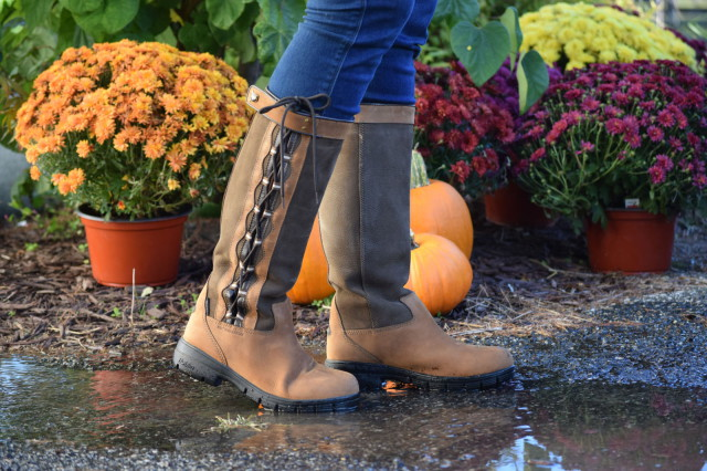 My feet have stayed dry and comfortable when I'm out in wet weather, thanks to the Harrowed boot's HBR waterproof and breathable membrane - Photo by: Lorraine Peachey