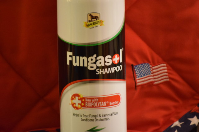 Label on the bottle of Fungasol Shampoo. Photo by Lorraine Peachey.