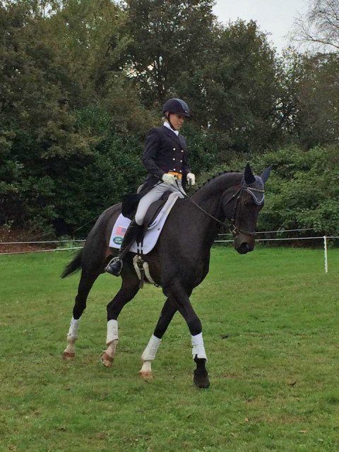 Shout out to Liz for rocking a helmet! Photo via USEF Eventing High Performance Facebook.