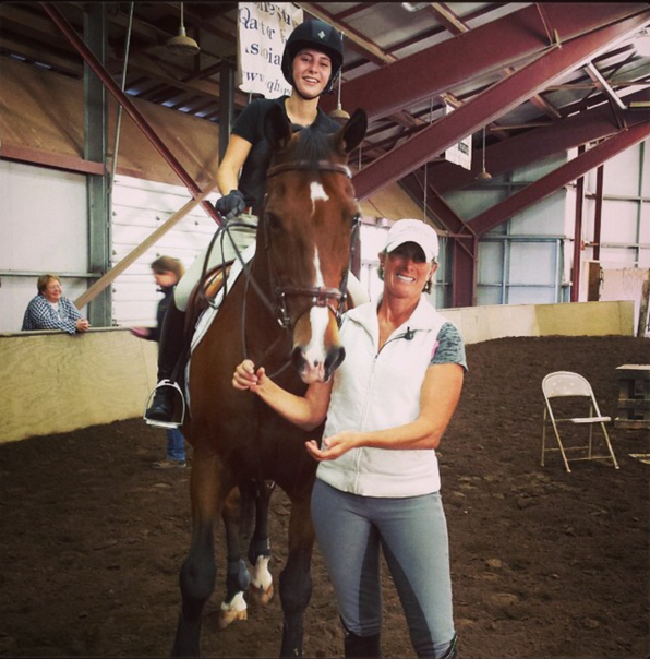 Marcia, Twister, and I (on cloud 9) at the end of my lesson with her!