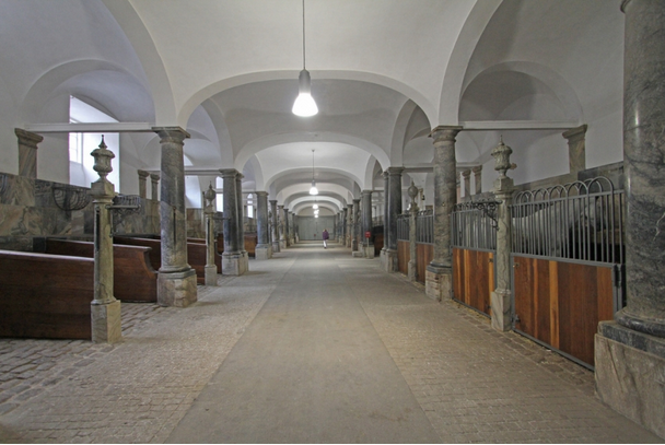 The Royal Stables at Christiansborg Castle (Copenhagen, Denmark).