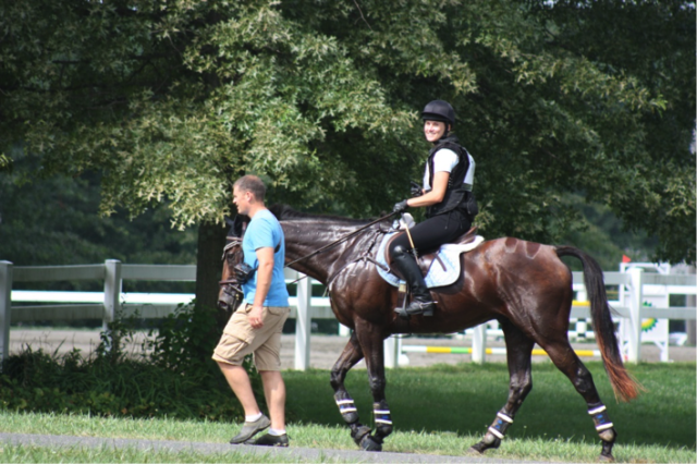 Kelly and Hobbs after a clear Intermediate XC run at NJHP in July 2014.
