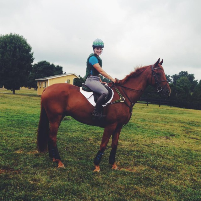 Leo is the master of the slipping saddle pad, but not today, thanks to this cross country Success pad. Photo by Kate Samuels.