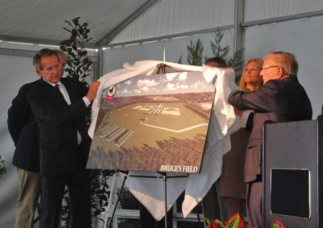 Jack Wetzel and Richard Duchossois unveil plans for the Aiken Horse Park. Photo by Teddy Kulmala/Aiken Standard.