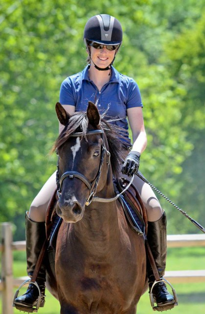 Maj. Erin Root and her Trakehner mare Alaina. Photo courtesy of Katherine A. Turnbull Photography.