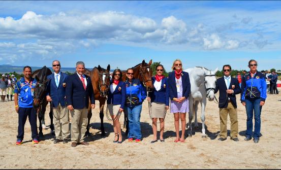 Team Venezuela turned out for the first horse inspection. Photo via Sara Kozumplik-Murphy.