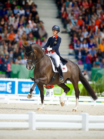 Charlotte Dujardin and Valegro at WEG. Photo courtesy of  FEI / Arnd Bronkhorst / Pool Pic.