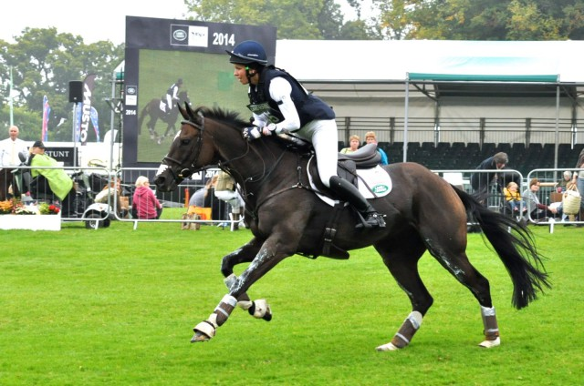 Meghan O'Donoghue and Pirate at Burghley. Photo by Kate Samuels.