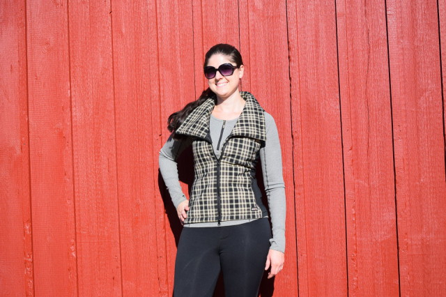 By unzipping the vest part-way, and folding down the collar, I can give myself additional ventilation on slightly warmer days and rock a completely different style with the Cross Diagonal Vest - Photo by Lorraine Peachey