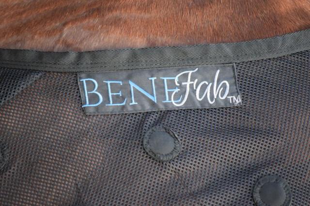 Benefab logo patch along the neckline of the Rejuvenate SmartScrim sheet - Photo by Lorraine Peachey