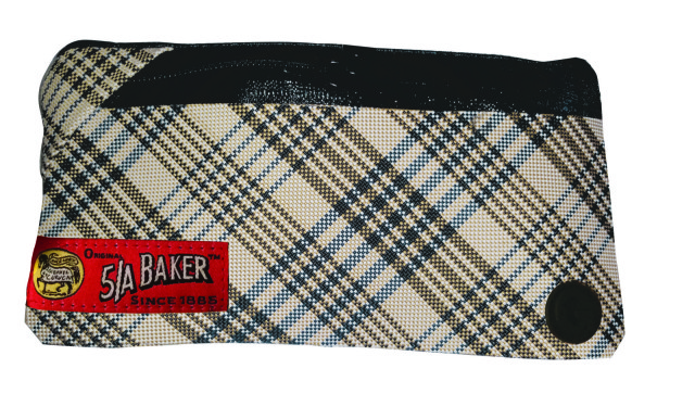 The GoVelope Special Edition Baker Original Plaid - An extra fancy, durable phone case made out of Baker's classic looking turnout blanket material - Photo provided by Giddyup Gear