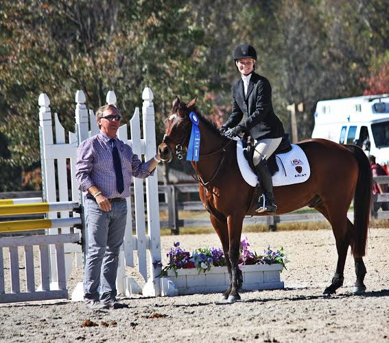 UGA's Kelly Boltz and Kat Got Your Luck. Photo courtesy of UGA Eventing.