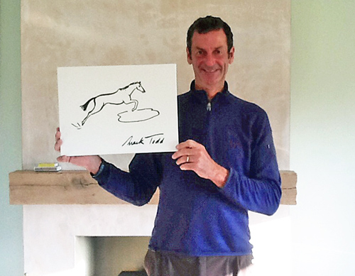 Mark Todd and his doodle. Photo courtesy of NZRDA.