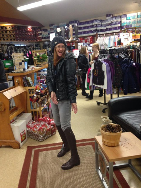 I had to work yesterday, so shots like these were the only way I got to experience Black Friday Madness!  Nice Boots Nikki! Photo from Nikki Ayers' Facebook Page