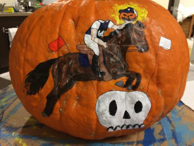 """The Headless Horseman Goes Eventing"" - by Grace Netter."