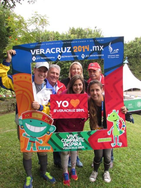 Francisco Mendoza, General Ruben Rojas, Sara Kozumplik-Murphy, Gabriela Suarez, and Natascha Barrientos. Photo from Sara Kozumplik-Murphy.
