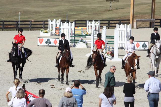 First place team, the UGA Silver Team. Photo courtesy of UGA Eventing.